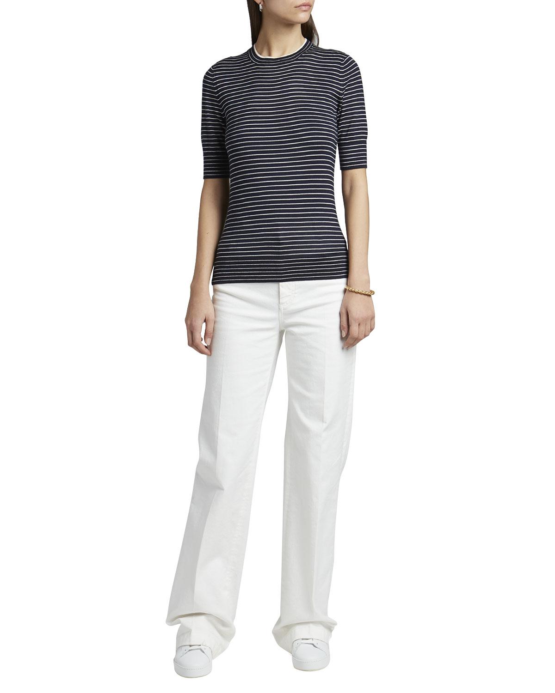 Fontvieille Striped Cashmere-Blend Sweater
