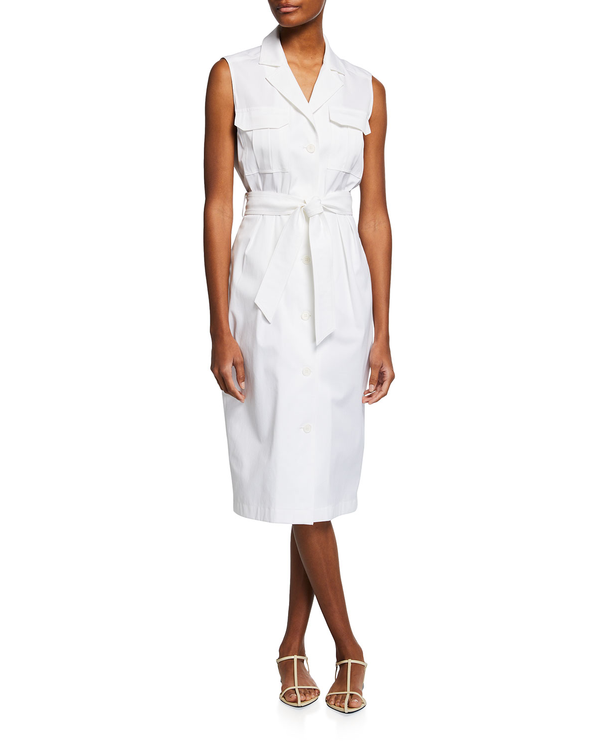 Belted Sleeveless Elica Trench Dress
