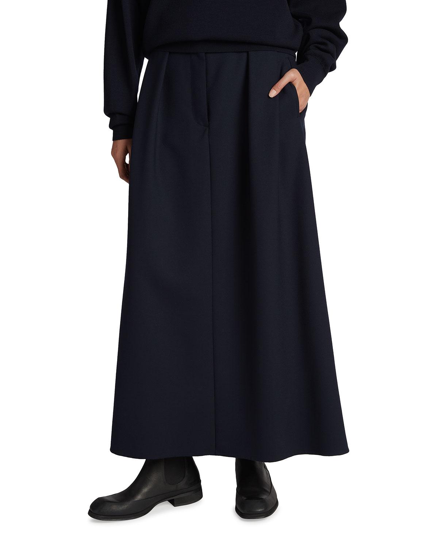 Jaako Pleated Wool-Blend Skirt