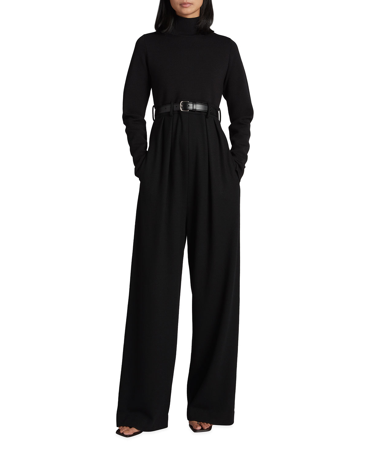 The Row Wools CELESTE SOLID WOOL KNIT LONG-SLEEVE JUMPSUIT