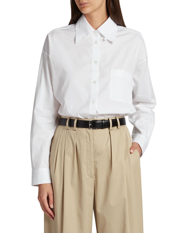 Gilles Solid Cotton Button-Down Shirt