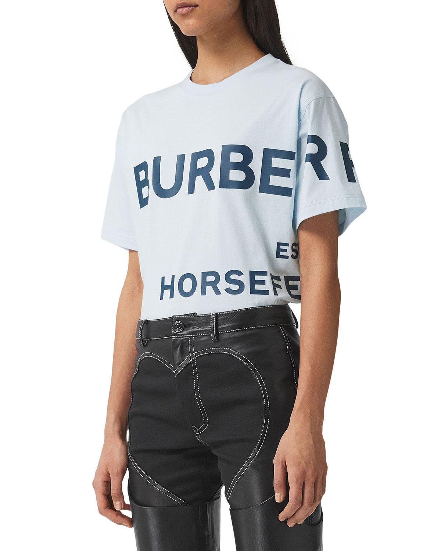 Burberry Cottons CARRICK HORSEFERRY PRINT COTTON OVERSIZED T-SHIRT