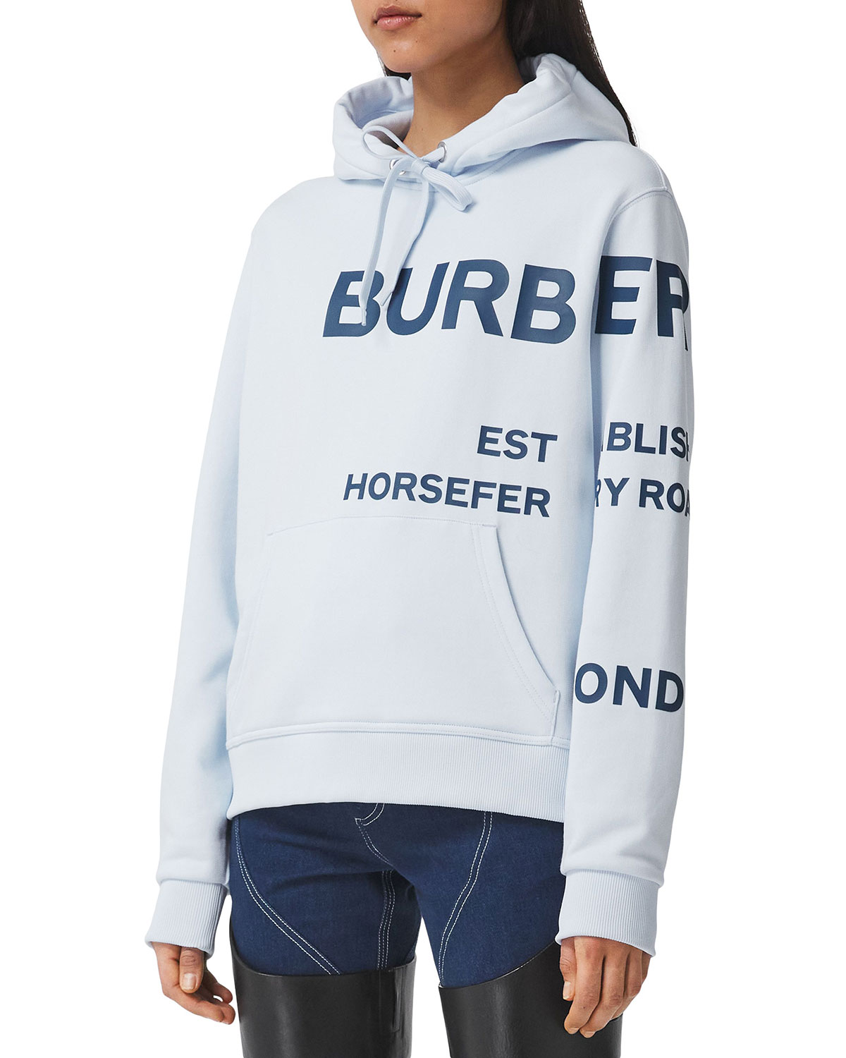 Burberry Cottons HORSEFERRY-PRINT COTTON OVERSIZED HOODIE