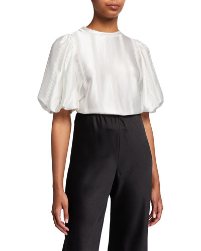 . Women/'s Hand-dyed Puff Sleeve Linen Blouse new