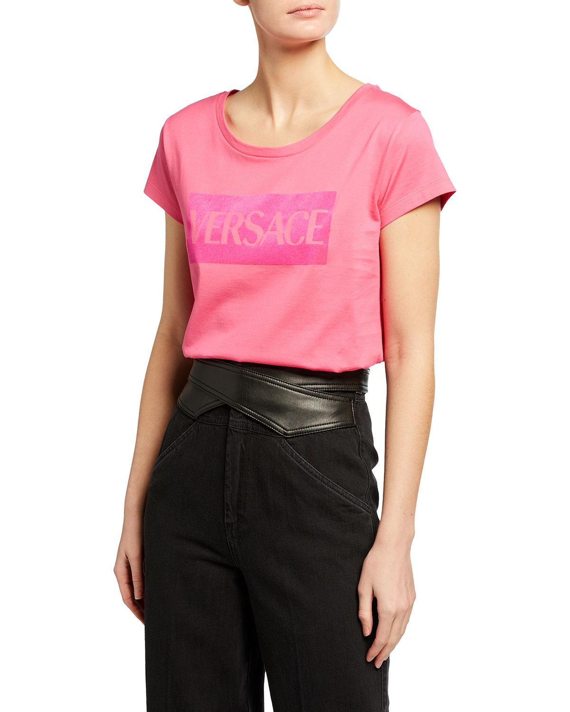 Versace T-shirts BOXED LOGO T-SHIRT