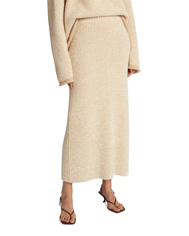 Caluso Ribbed Maxi Skirt