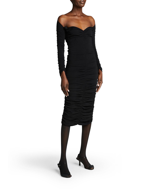 Charmaine Ruched Midi Dress