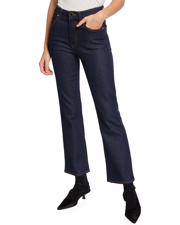 Khaite Vivian Boot-cut Jeans In Raw