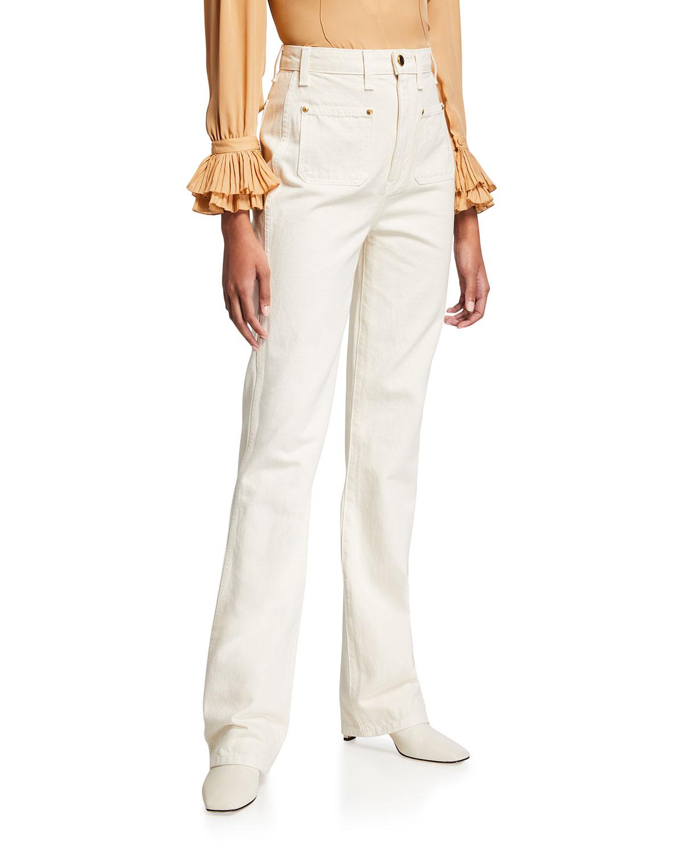 Isabella Straight-Leg Denim Pants