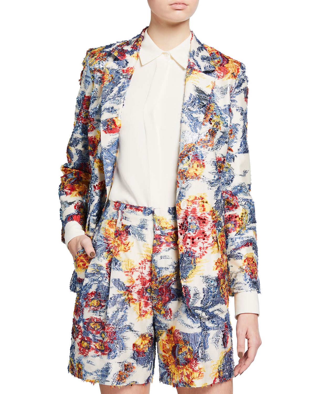 Embellished Giverny Long Blazer