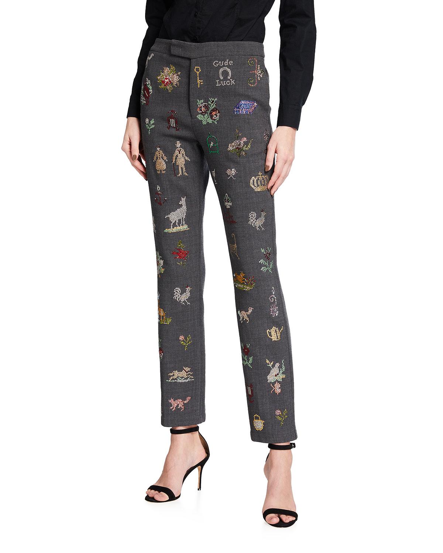 19th Century Sampler Embellished Pants