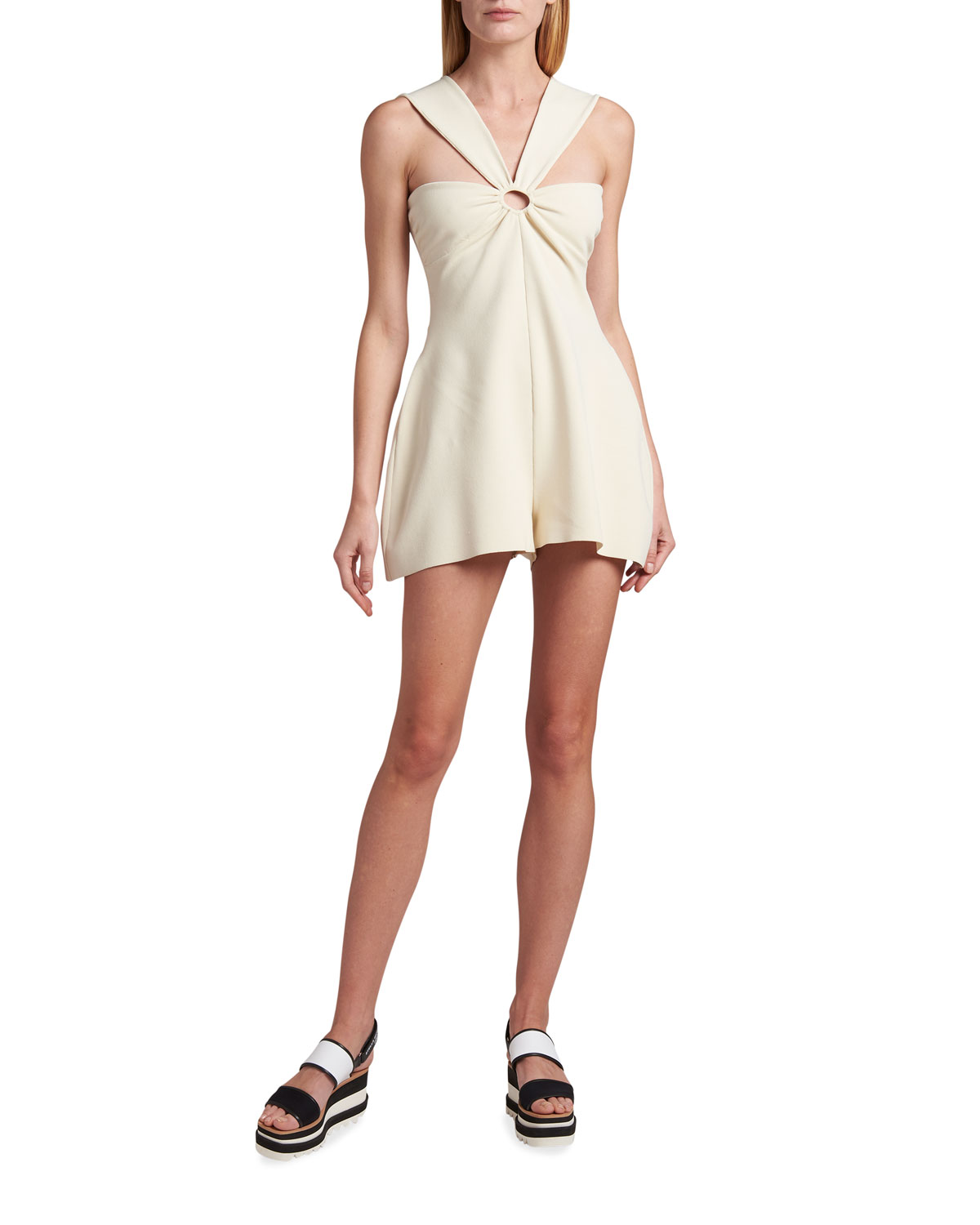 Stella Mccartney Playsuits COMPACT KNIT O-RING ROMPER