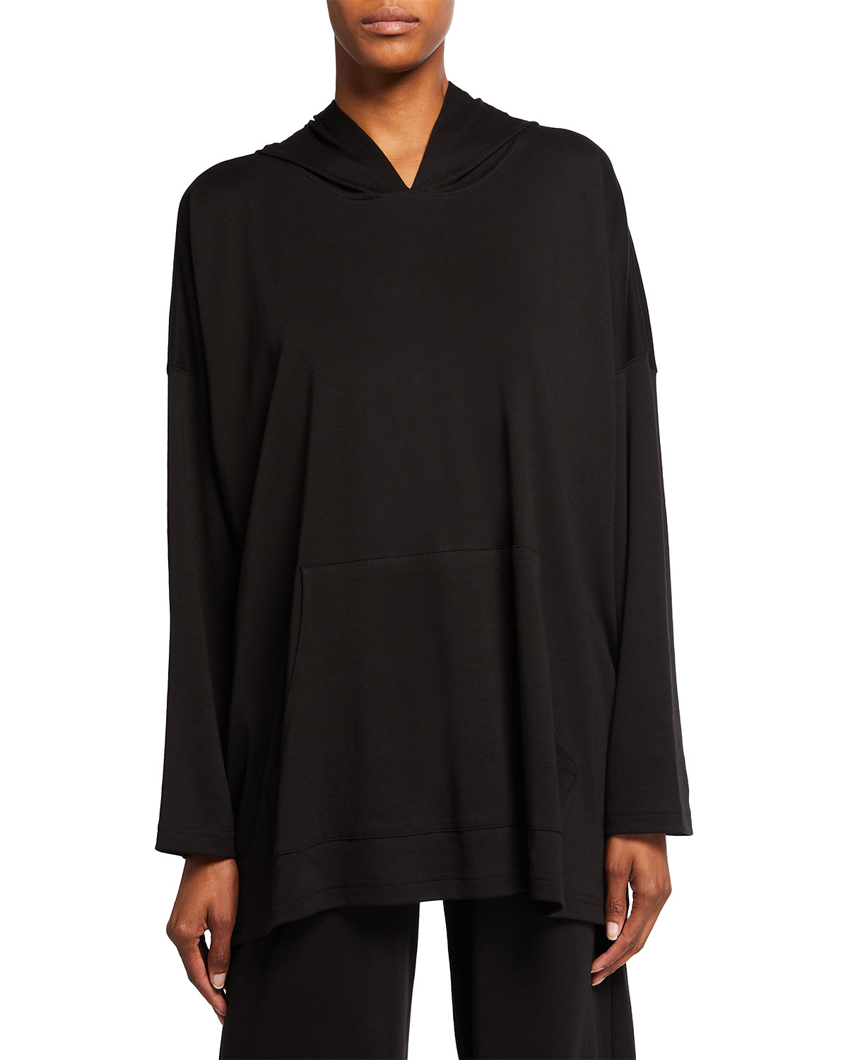 Pima Cotton Hooded Pullover