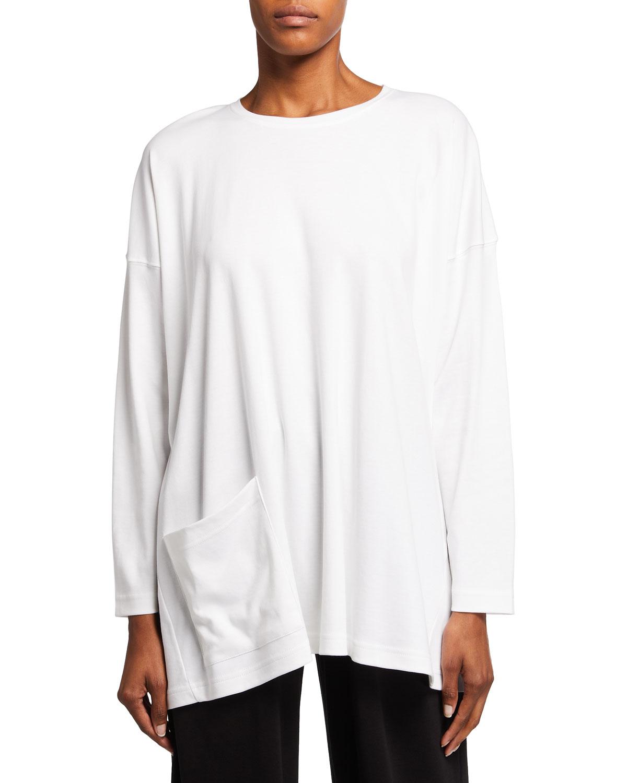Angled-Pocket Pima cotton Shirt