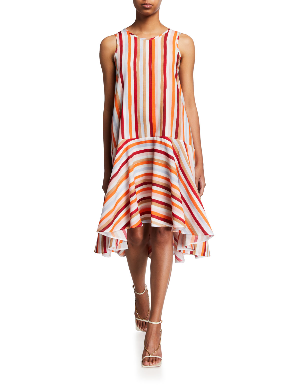 Sunset Striped Dress