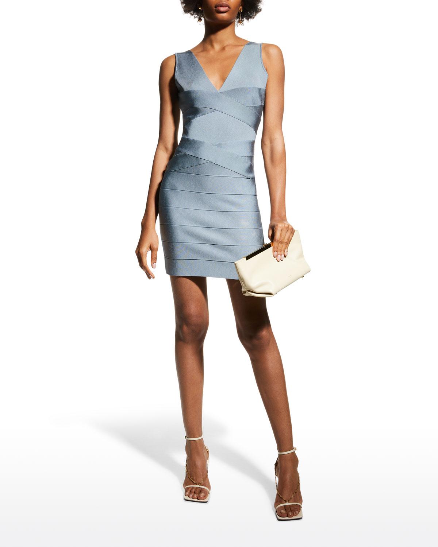 Cross-Front Bandage Mini Dress