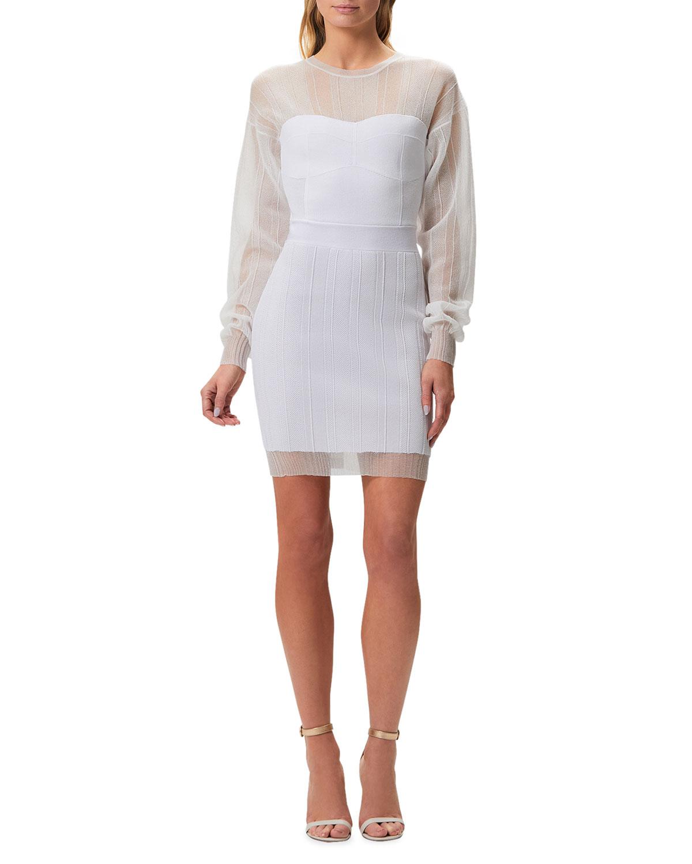 Illusion Body-Con Dress