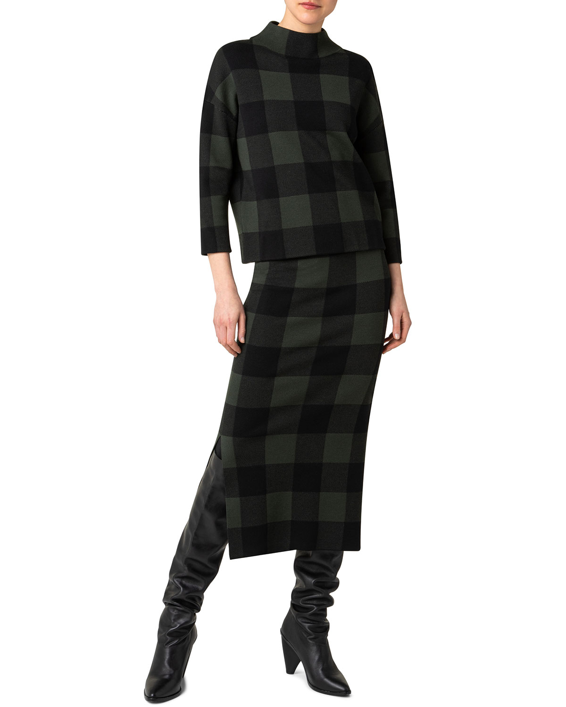 Checkerboard Jacquard Merino Wool Sweater