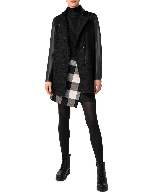 Mixed-Media Asymmetric Jacket
