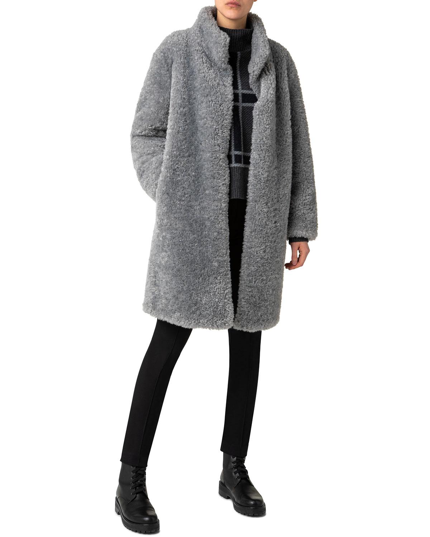 Faux-Fur Shearling Coat