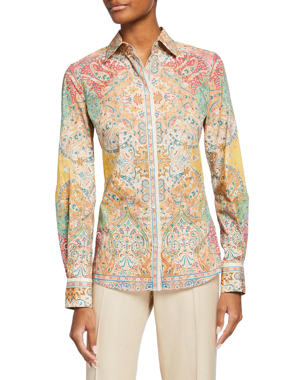 Paisley Printed Button-Down Shirt
