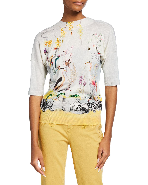 Tucano-Print Mock-Neck Sweater
