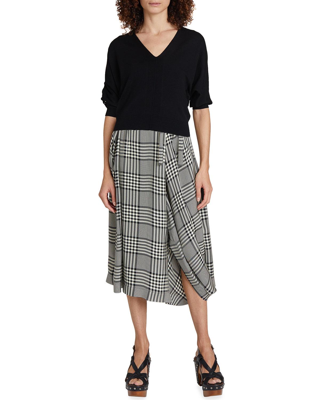 Cutout-Sleeve Wool Sweater