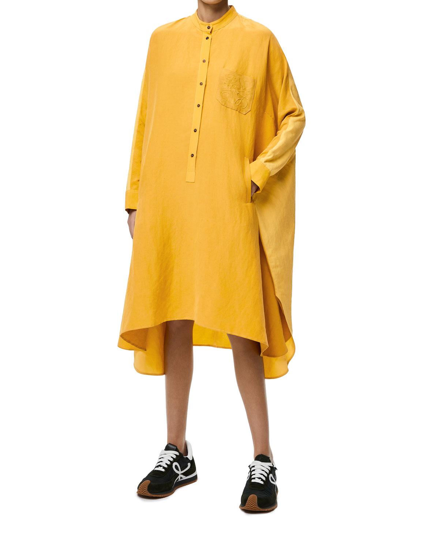 Colorblock Anagram Tunic Dress