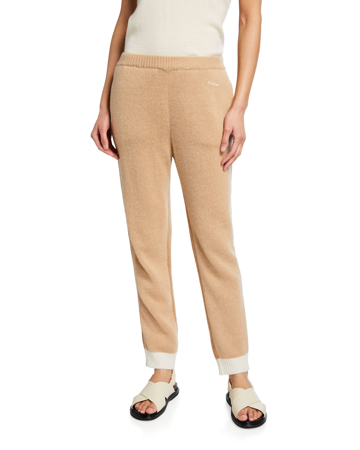 Cashmere Trousers w/ Stitched Logo