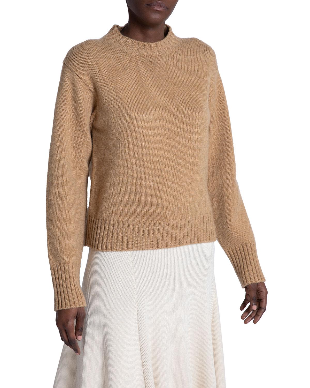 Cashmere-Cotton Crewneck Sweater