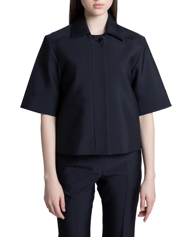 Short-Sleeve Techno Gabardine Jacket