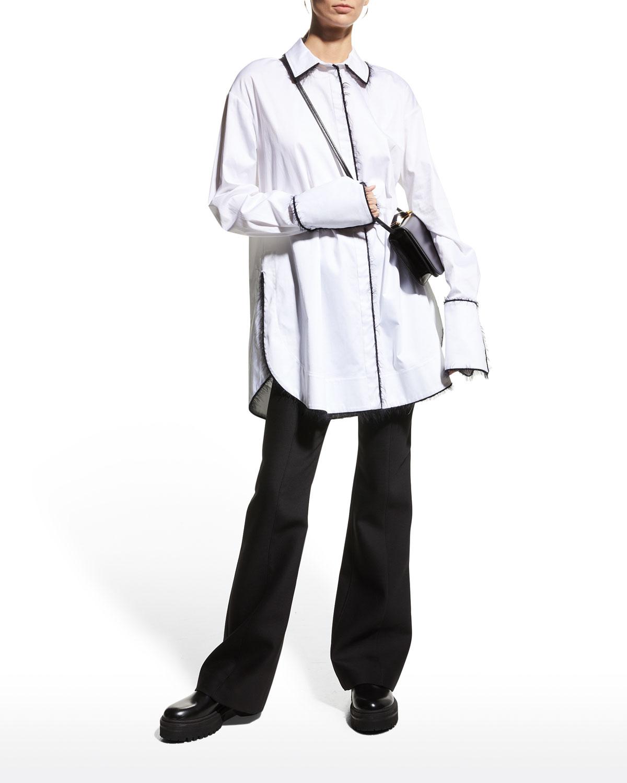 Alex Mohair-Trim Shirt