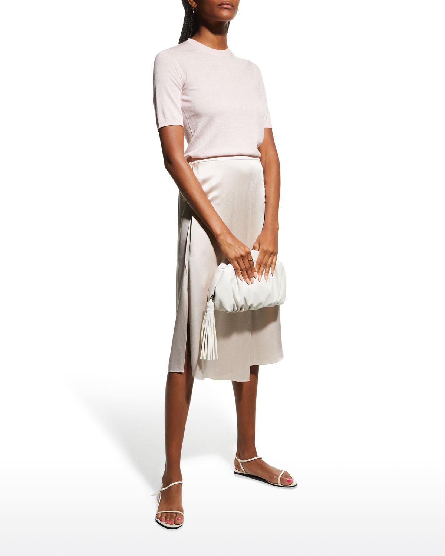 Arsenia Short-Sleeve Wool Sweater