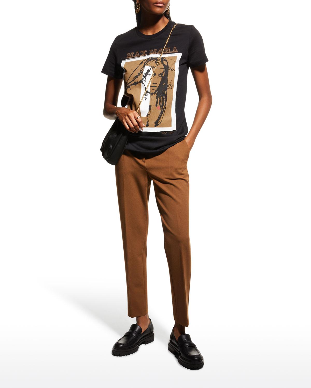 Pegno Straight-Leg Jersey Pants