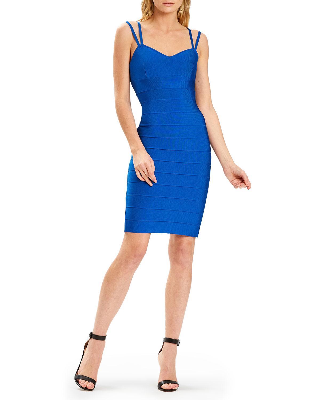 Bandage Knit Double-Strap Body-Con Dress
