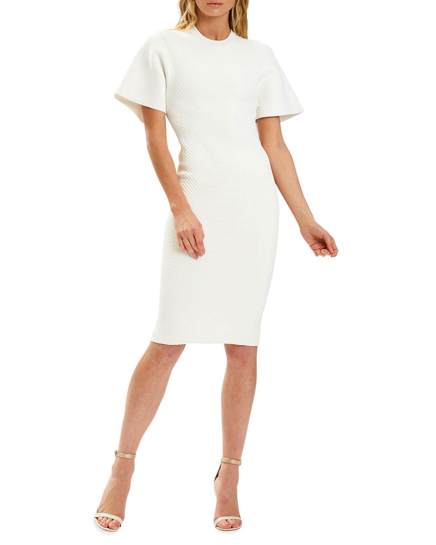 Ribbed Contour T-Shirt Dress