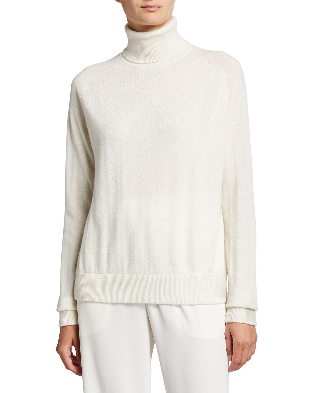 Boxy Cashmere Turtleneck Sweater