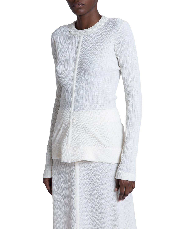 Cotton Gauze Long-Sleeve Top