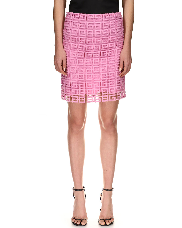 4G Wool Guipure Pencil Skirt