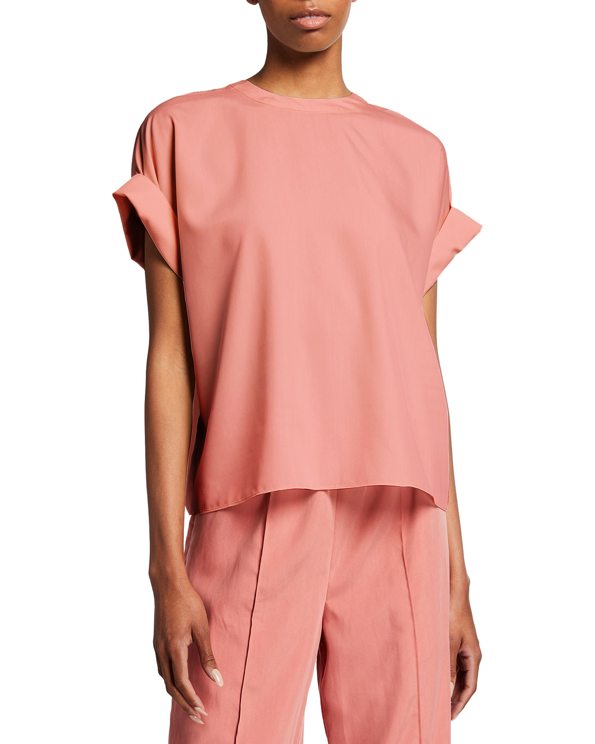 Rolled-Sleeve Modal T-Shirt