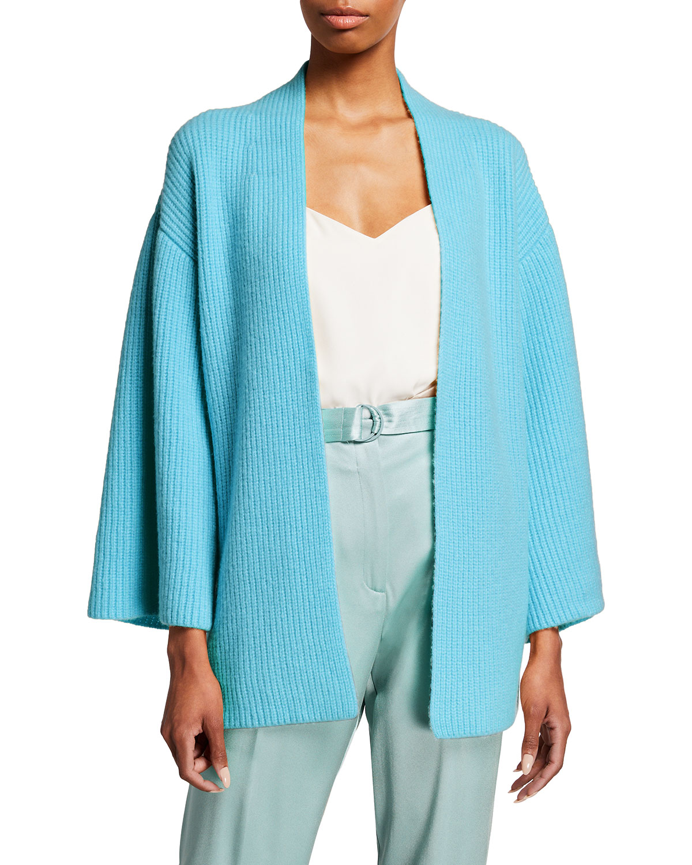 Belted Cashmere Kimono Cardigan