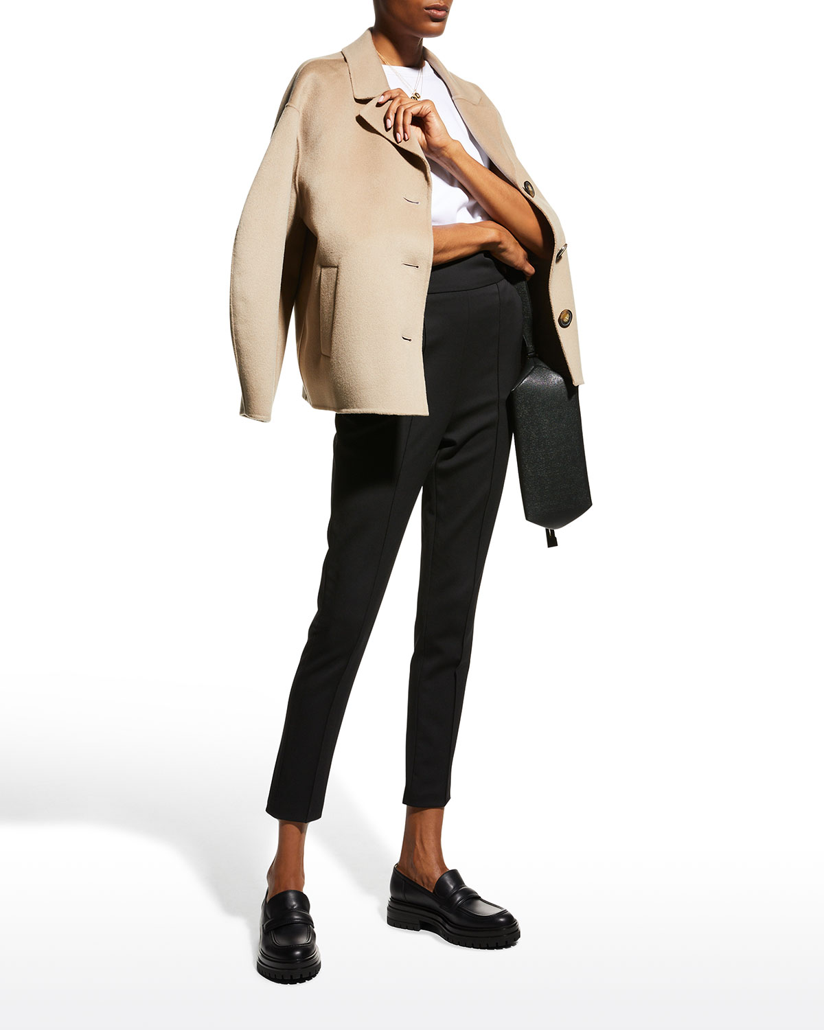 Moho Cropped Wool-Cashmere Coat