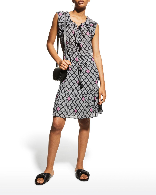 Gianna Tassel-Tie Mini Dress
