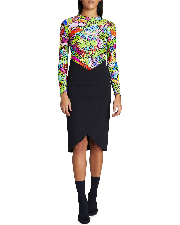 Circle Sport-Jersey Pencil Skirt
