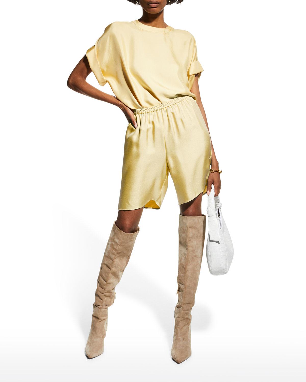 Silk Twill Bermuda Shorts