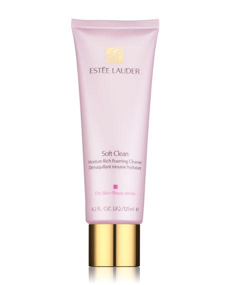 Estee Lauder 4.2 oz. Soft Clean Moisture Rich Foaming Cleanser