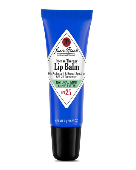 Jack Black Intense Natural Mint Therapy Lip Balm SPF 25, 0.25 oz.<br>