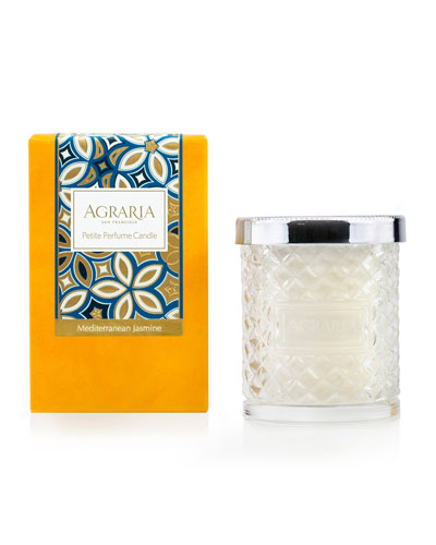 Mediterranean Jasmine Crystal Cane Candle, 3.4 oz.