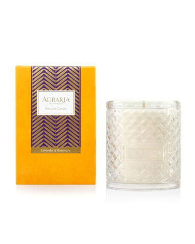 Lavender & Rosemary Woven Crystal Perfume Candle, 7 oz.
