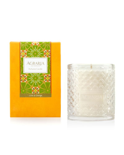Lime & Orange Blossoms Woven Crystal Perfume Candle, 7 oz.